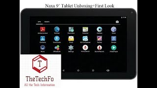 Naxa 9 inch Tablet Unboxing+First Look