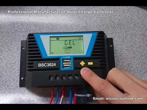 4-The Setting for GEL Battery- BSC3024 Solar Charge Controller