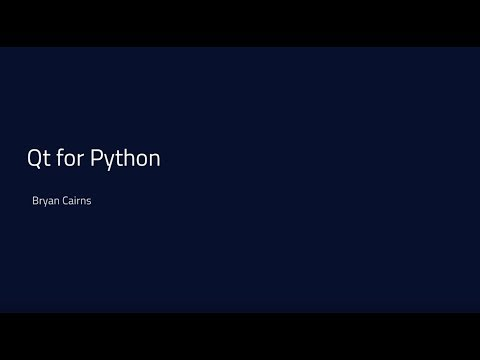 Qt for Python - Making a QML Application in Python {tutorial