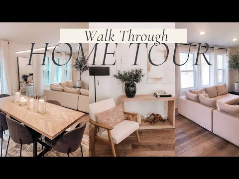 FURNISHED HOME TOUR 2021   Modern Natural Home Decor