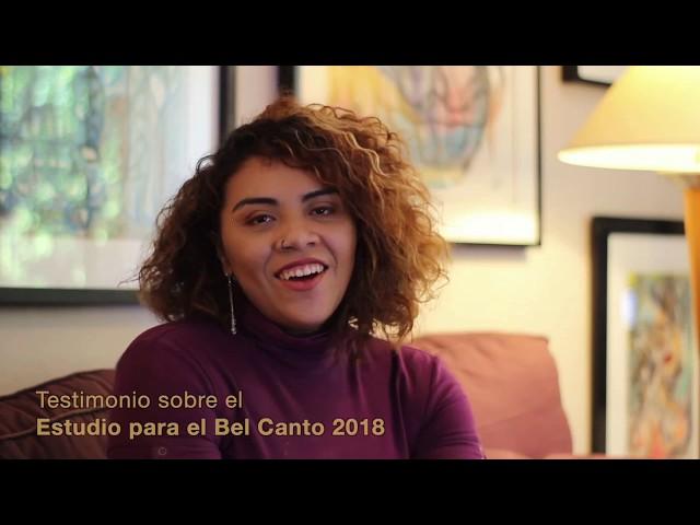 Testimonial sobre el Estudio para el Bel Canto 2018 |  Maleny Beberaje