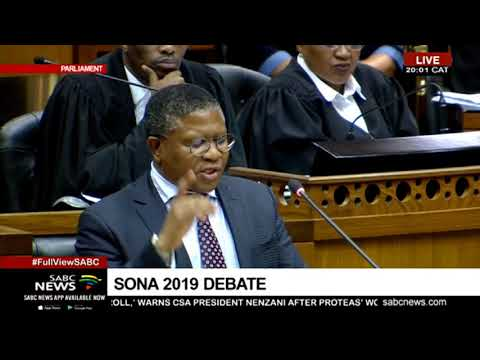 Minister Fikile Mbalula wraps up #SONADebate2019