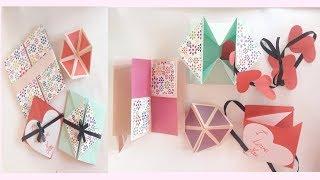 Hexagon endless card || secret door card || Diamond box envelope with gift card || squash card