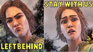 Lee LEFT Lilly Behind vs Let Her STAY With Us -All Outcomes- The Walking Dead The Final Season thumbnail