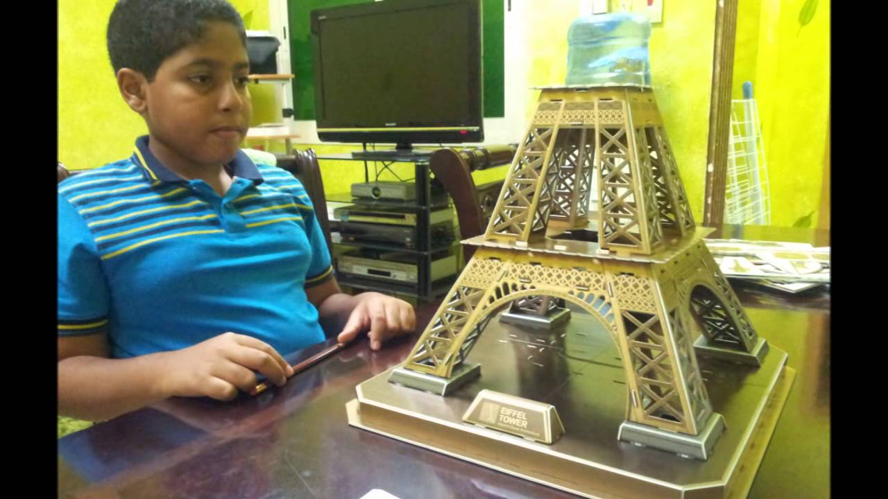 solving 3d eiffel tower puzzle youtube. Black Bedroom Furniture Sets. Home Design Ideas