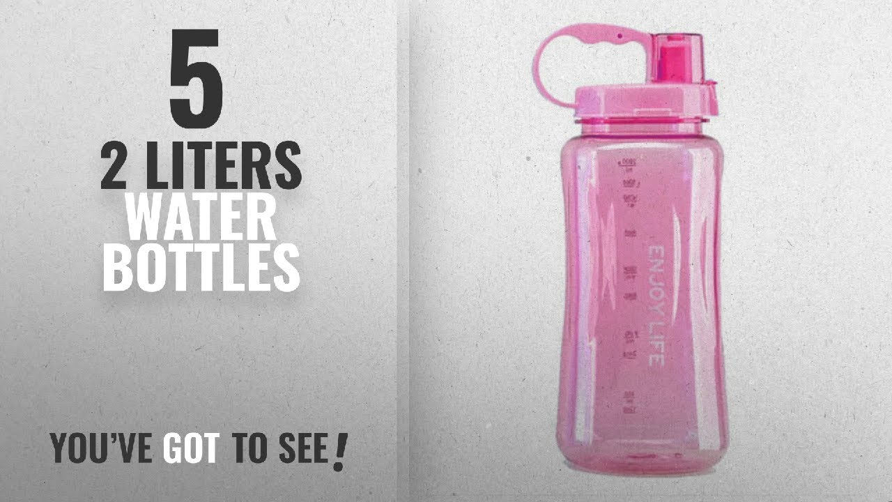 2a56610bded6 Best 2 Liters Water Bottles [2018]: 2L Sports Water Bottles,Lonni Portable  Wide Mouth Bottle