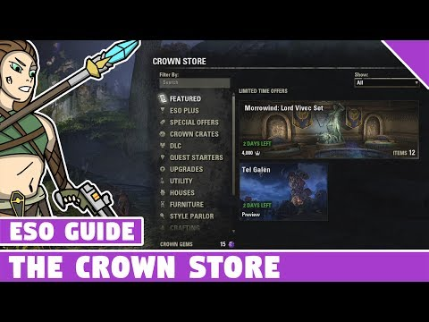 All About the Crown Store in ESO - Elder Scrolls Online Cash Shop