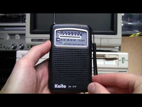 Kaito KA-210 AM/FM/NOAA Weather radio review & test