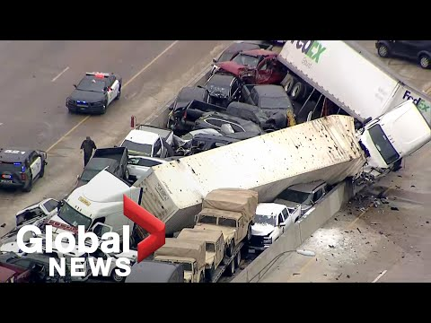 At least 5 dead after massive 70+ vehicle pileup on icy Texas highway