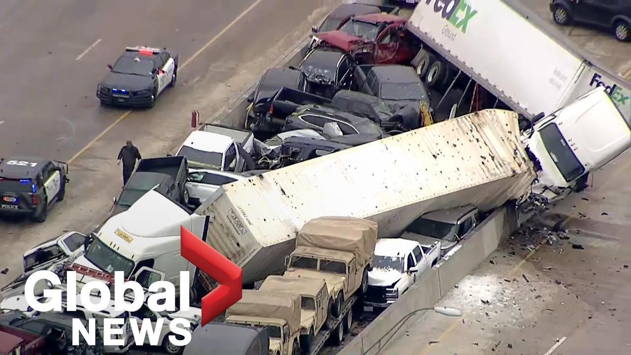 At least 5 dead in 70-vehicle wreck due to weather in Fort Worth ...