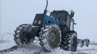 Тест Мтз Трактор Беларус 1221| Тест драйв на Подъеме с предоком и Без