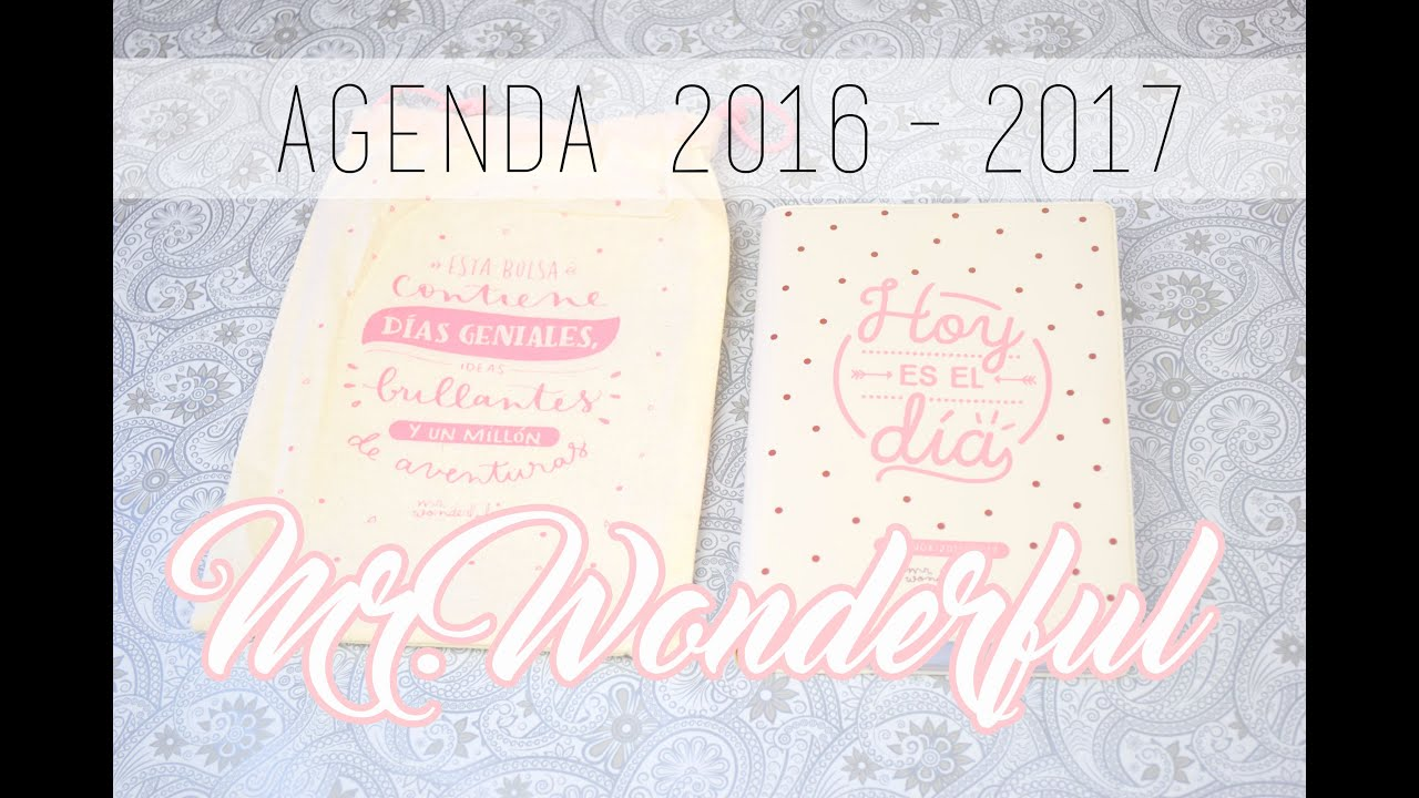 Agenda 2016 2017 mr wonderful review likesely youtube - Agenda de mr wonderful 2017 ...