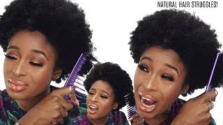 MY NATURAL HAIR IS HARD/COARSE/TOO THICK/BREAKS COMBS PART 1