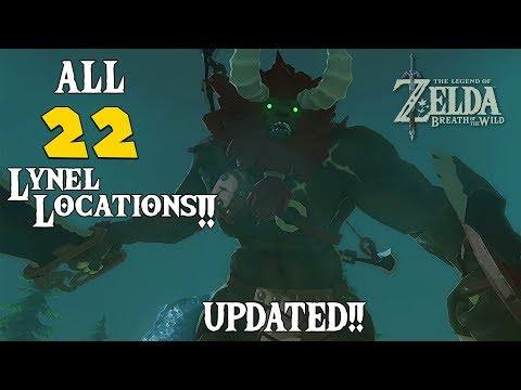 ALL 22 LYNEL LOCATIONS ZELDA: BOTW (UPDATED W/ TIMESTAMPS!!)