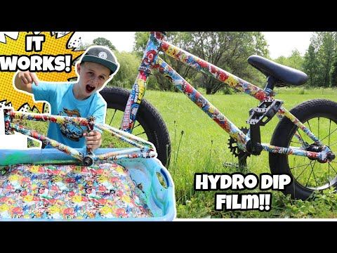Hydro Dipping My Bike With Cartoon Transfer Film! *Spongebob!*