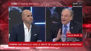 27-06-2019 - Carlos Heller en C5N - Recalculando, con Julián Guarino