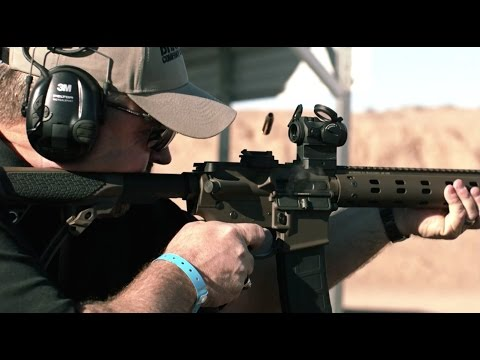 SHOT SHOW 2015 RANGE DAY - AIMPOINT MICRO T2 and ACO