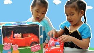 佩佩豬粉紅豬小妹全家開車去野餐玩具開箱 Peppa Pig Play Picnic Adventure Car 就在Sunny Yummy Kids TOYs