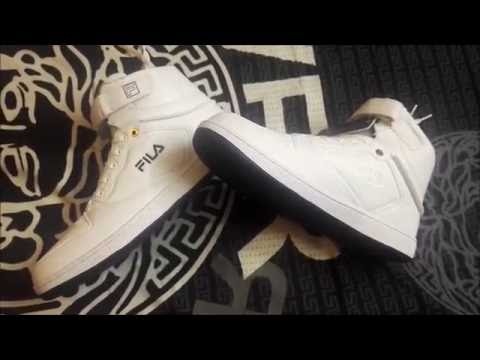 c15459ef8 Fila ROBERTO Mid Ankle Sneakers WHITE   UNBOXING+REVIEW - YouTube