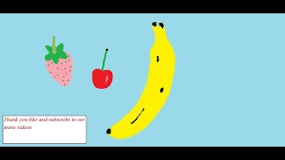 How to draw fruits for children / Nursery rhymes