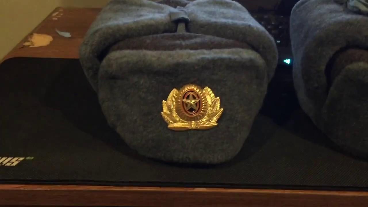 cb68ab6531f New Soviet ushanka hats - YouTube