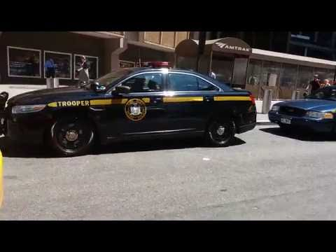 Brand New NYS Police, Trooper Ford Interceptor Parked Outside Penn Station In Manhattan