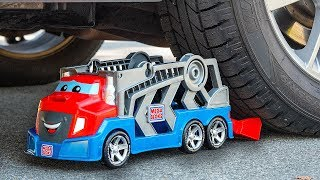 Toy car  vs real car | ASMR Crushing Crunchy & Soft Things by car | TestPerfect experiment