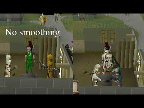 Runelite animation smoothing vs standard client
