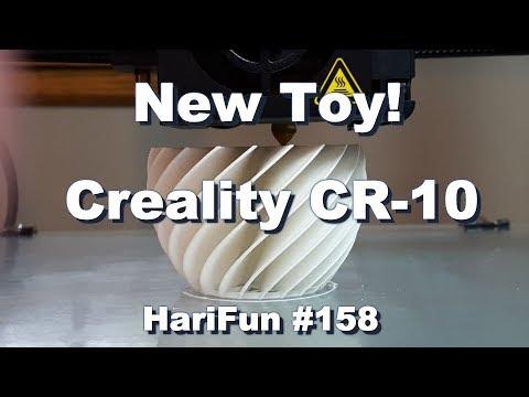 HariFun #158 - Creality CR-10 3-D Printer