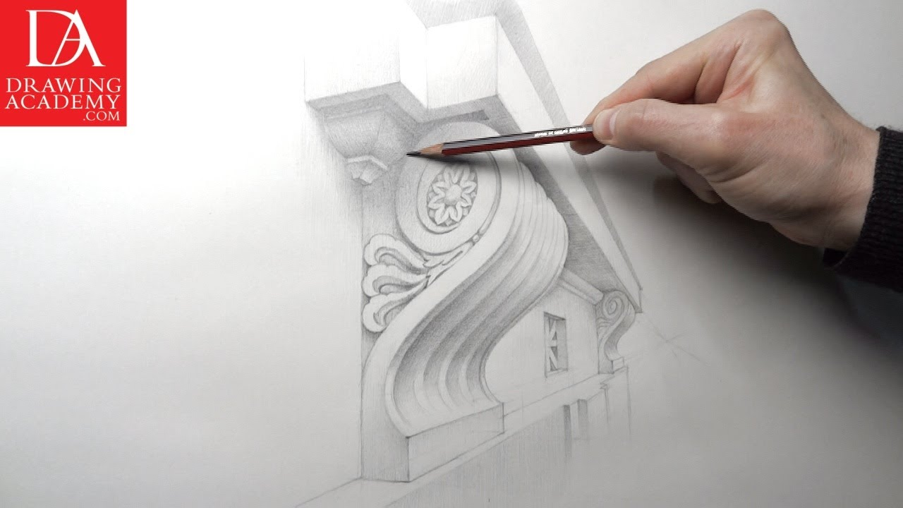 Architecture Drawing Basics drawing architecture video lesson - presenteddrawing academy