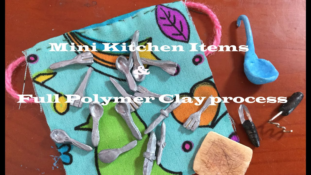 miniature kitchen items how to use polymer clay youtube
