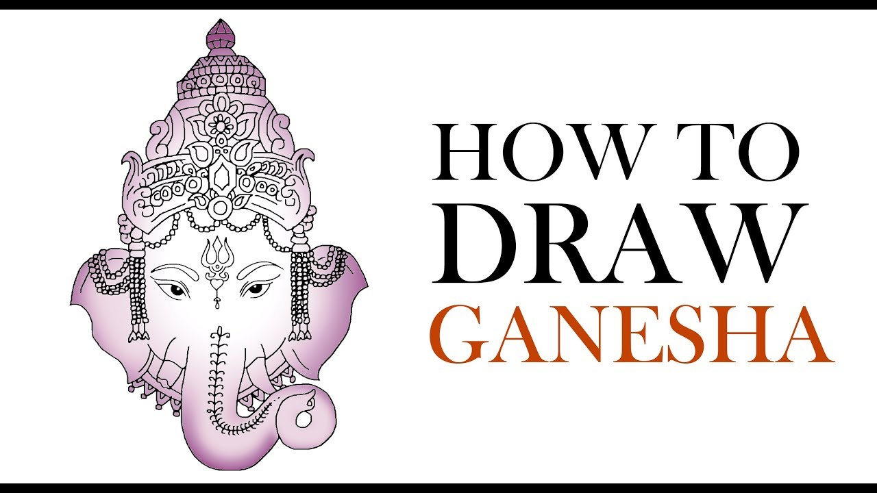 How to draw ganesha step by step youtube how to draw ganesha step by step buycottarizona