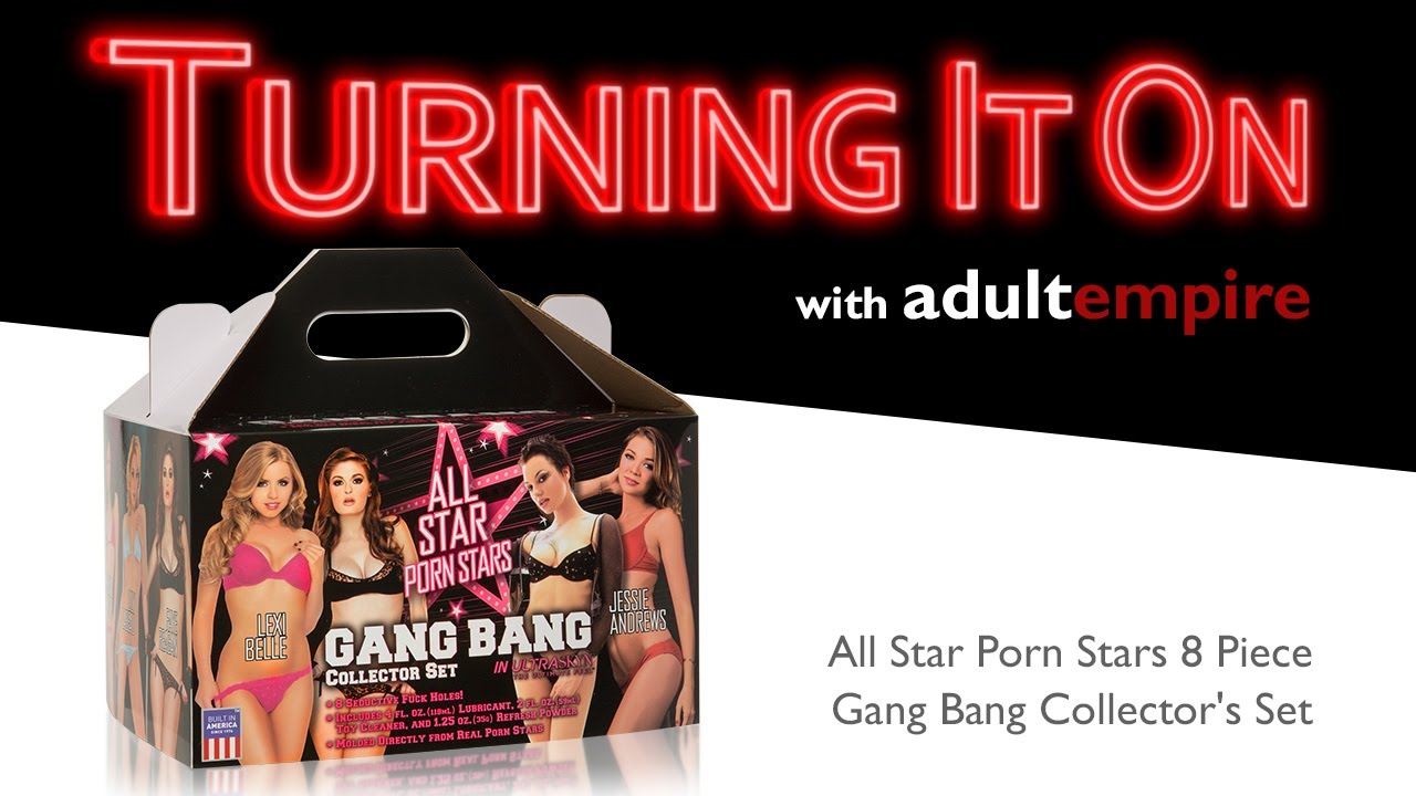 All Star Porn Stars 8 Piece Gang Bang Collector's Set- Turning it On With Adult Empire