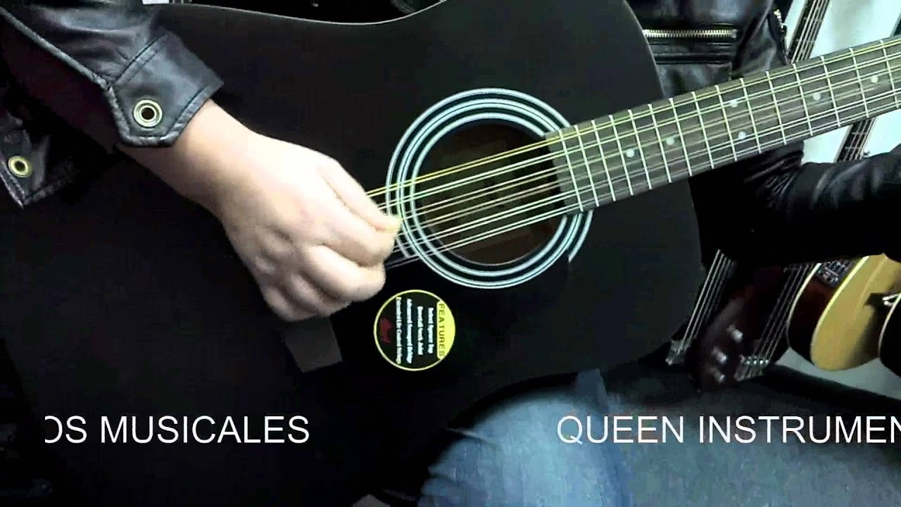 guitarra electroac stica cort 12 cuerdas ad810 12e youtube. Black Bedroom Furniture Sets. Home Design Ideas