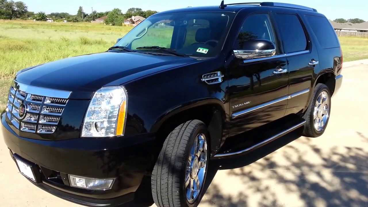 for sale 2011 cadillac escalade awd 4wd luxury loaded black on black youtube. Black Bedroom Furniture Sets. Home Design Ideas