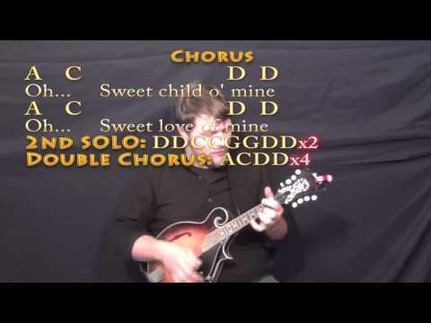 Mandolin mandolin tabs sweet child of mine : Sweet Child of Mine (GNR) Mandolin Cover Lesson with Chords/Lyrics ...