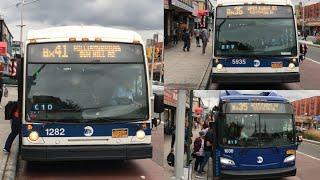 MTA NYC Bus NovaBus LFSA #5935/1282/New Flyer XN60 #1030 Bx35/Bx41