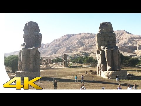 [4K] Luxor - Colossi of Memnon - Egypt - Cinematic | [UHD] [Ultra HD] [2160p]