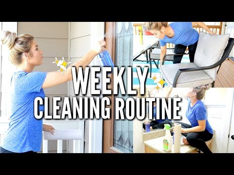 🌺MY NEW WEEKLY CLEANING ROUTINE 2018   SPEED CLEAN WITH ME   Love Meg