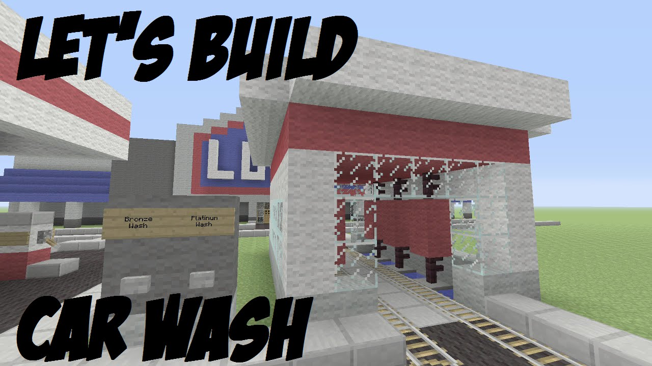 How To Build A Car Wash In Minecraft Pe