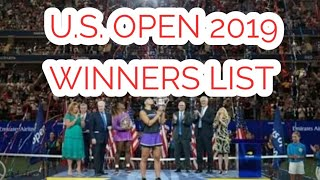 US OPEN 2019| U S OPEN 2019 WINNERS| US OPEN 2019 WINNER LIST| AMERICA OPEN 2019| WINNER
