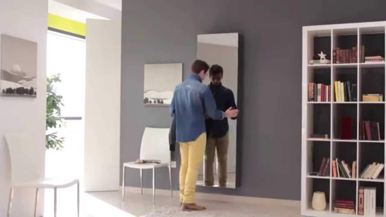 Mobili Di Lillo sistema Mirror Appendiabiti a scomparsa - YouTube