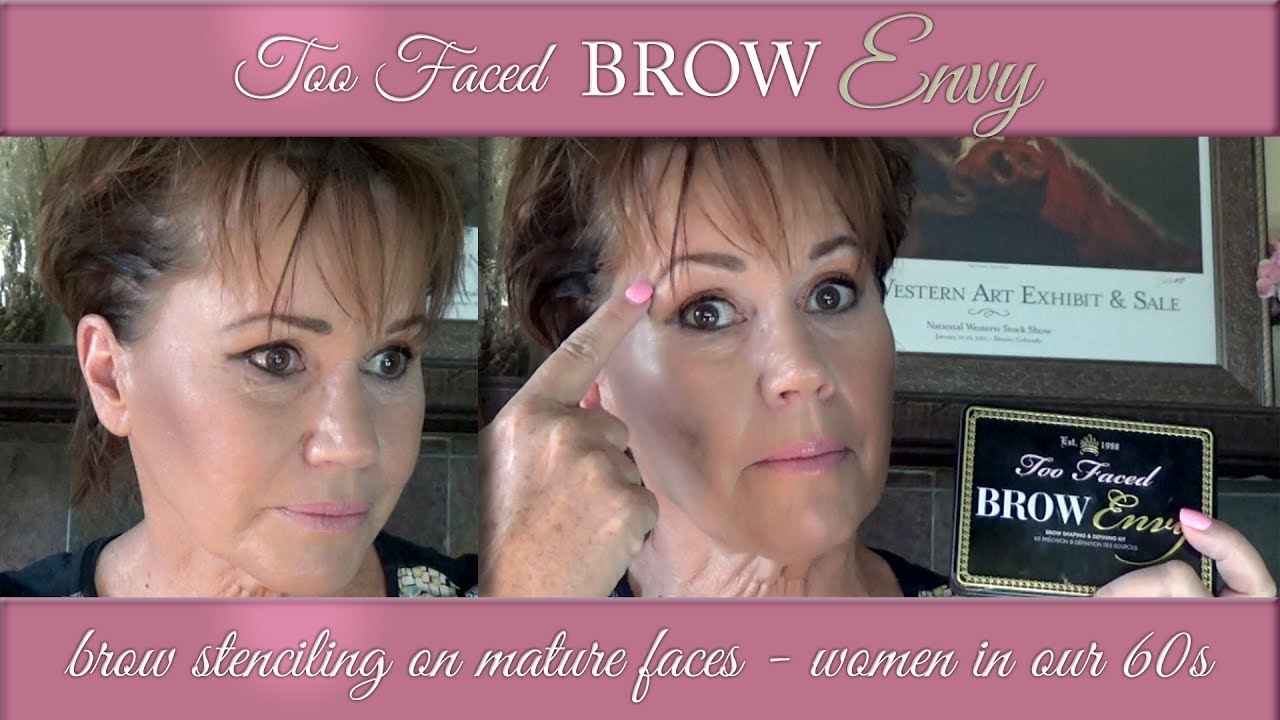 Two Faced Brow Envy Kit Tutorial And Review For Mature Women Youtube