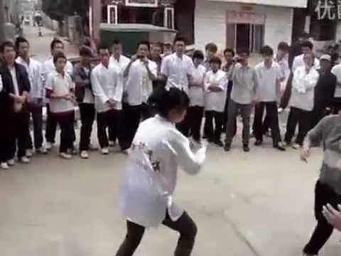 Wing Chun vs Wing Chun   Girl vs Girl ( HARD CORE FULL CONTACT)