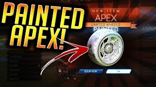 *OMG* I GOT PAINTED Apex From an RLCS Reward Drop! | Painted Fan Rewards! (Rocket League)