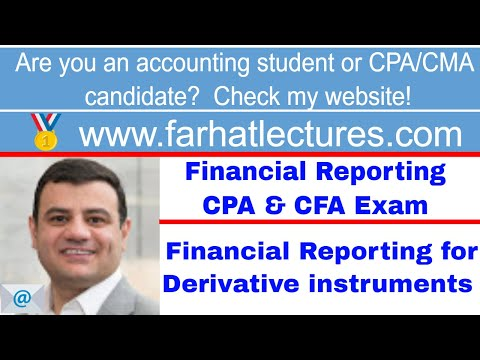 Financial reporting for derivative instruments ch 11 p 6 CPA exam