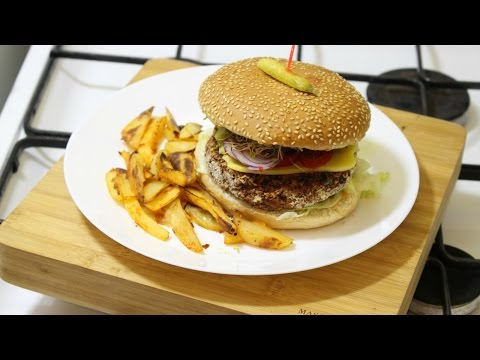 Spicy Vegan Kidney Bean Burger | Easy & Cheap Vegan Dinners