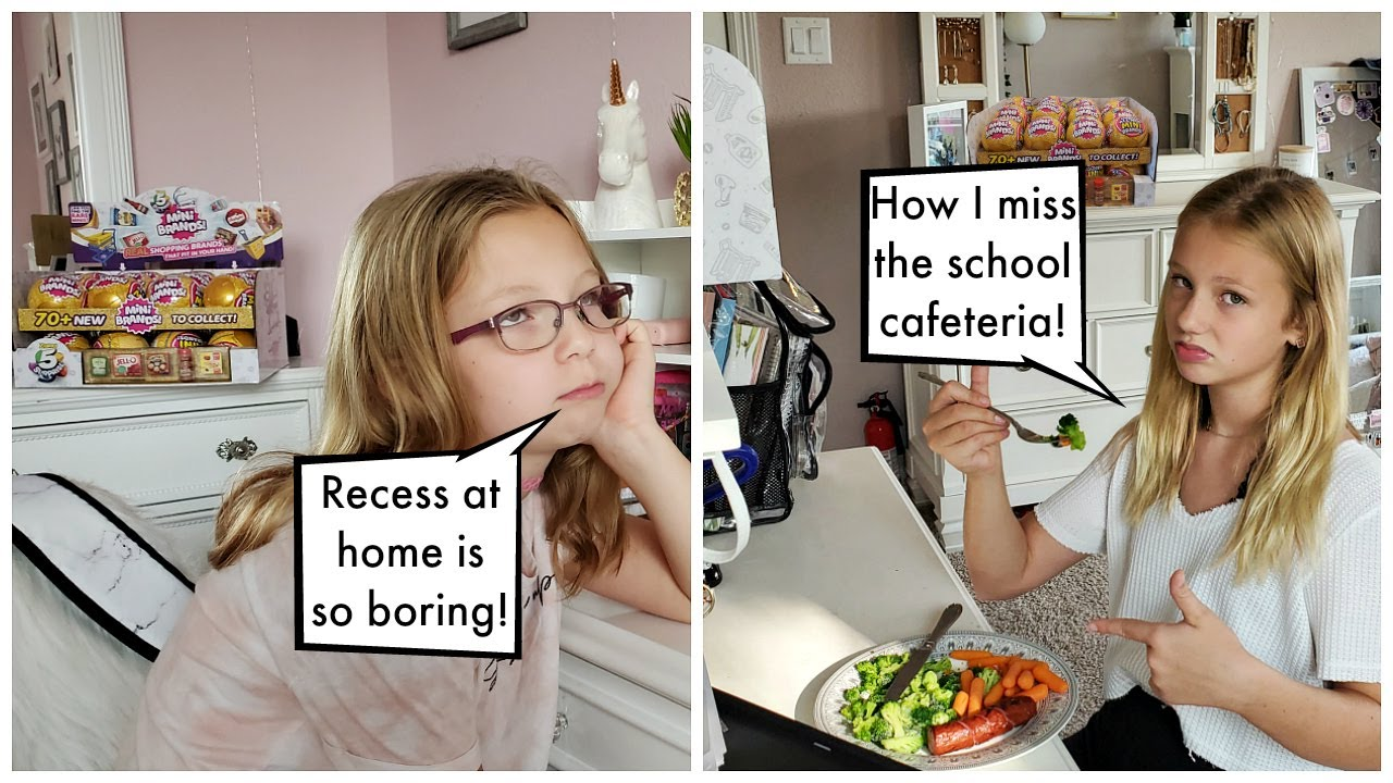Mom Saves Our Online School Recess and Lunch! / Mini Brands Series 2