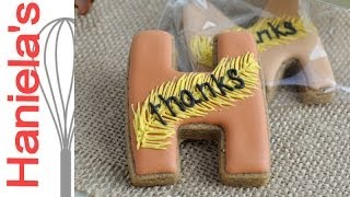 Thanksgiving Monogram Cookies Tutorial