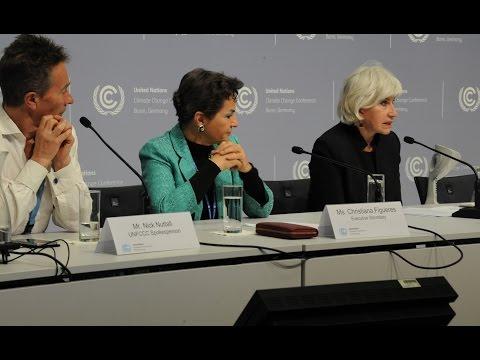 Closing Press Conference UN Climate Change Conference in Bonn